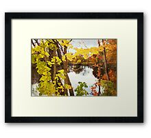 Grand River  /  Autumn in Michigan Framed Print
