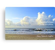 Secret Of The Sea Canvas Print