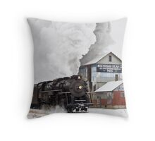 Pere Marquette 1225 Passes the Michigan Bean Company Throw Pillow