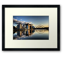 Reflective Tyne Framed Print