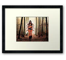 Angel in the forest Fine Art Print Framed Print