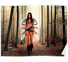 Angel in the forest Fine Art Print Poster