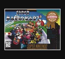 Super Mario Kart Super Nintendo NES Box cover  T-Shirt
