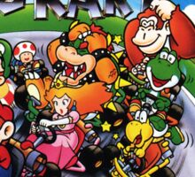 Super Mario Kart Super Nintendo NES Box cover  Sticker