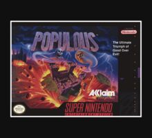 Populous Super Nintendo NES Box cover  by ruter
