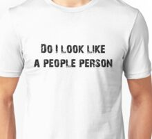 People Person (Black) Unisex T-Shirt