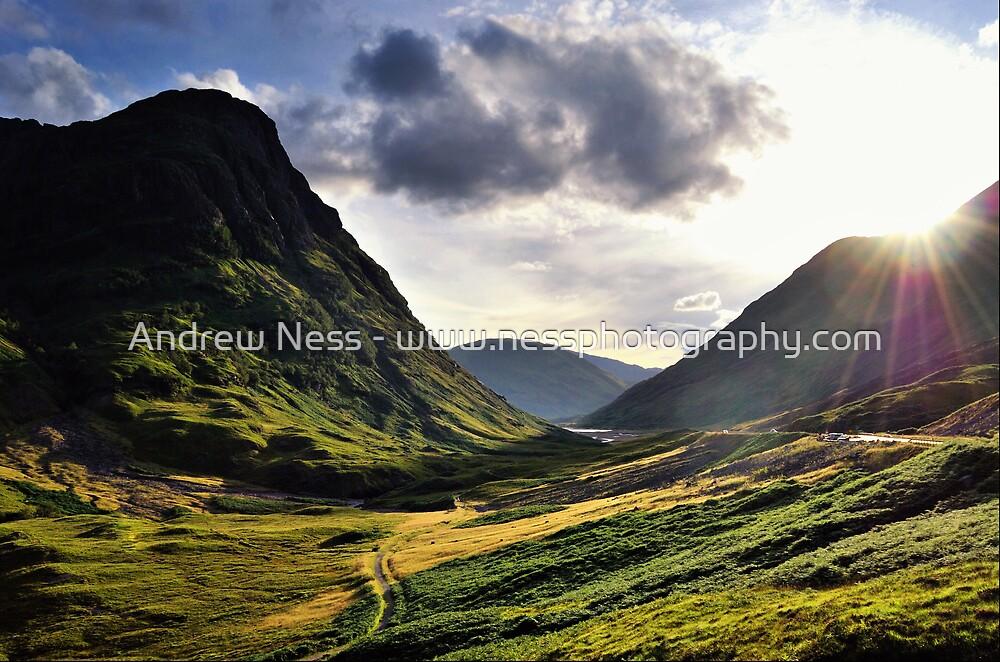 Sundown in Glencoe by Andrew Ness - www.nessphotography.com