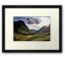 Sundown in Glencoe Framed Print