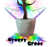 Groovy Groot - Baby Groot by Dylan Harty