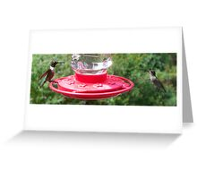 Mind your manners at the table! Greeting Card