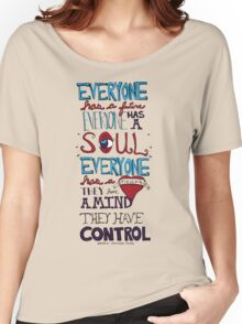 AJJ Hand Drawn Typography Women's Relaxed Fit T-Shirt