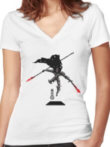 The Game of Kings, Wave Three: The Black King-Knight's Pawn Women's Fitted V-Neck T-Shirt