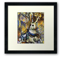 Childhood Dreams - Chasing the White Rabbit Framed Print