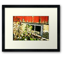 Grainery Window / Framed Print