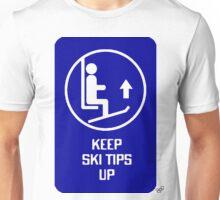 Blue tips up Unisex T-Shirt