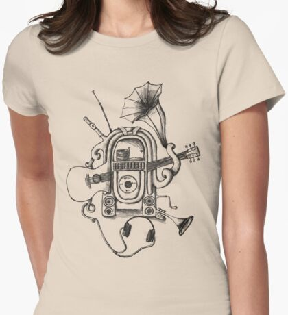 The Music Machine Womens Fitted T-Shirt