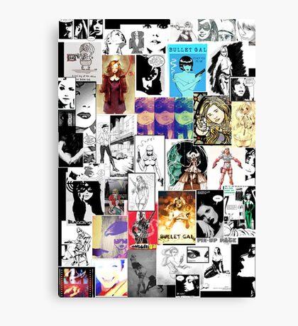 Bullet Gal: L'Homage Canvas Print