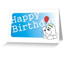 Coton de Tulear Happy Birthday Greeting Card