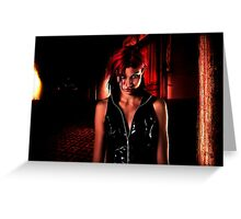 Model In Abandoned House Fine Art Print Greeting Card