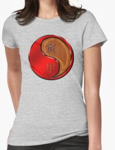 Tiger Yang Wood  Womens Fitted T-Shirt