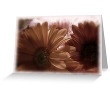 Subdued Gerberas Card Greeting Card