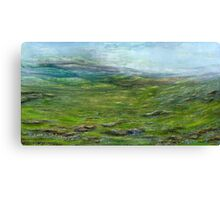 On the moor Canvas Print