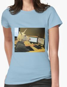 Unicorn in a cubicle #2 - the crushing of the soul Womens Fitted T-Shirt