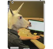 Unicorn in a cubicle #2 - the crushing of the soul iPad Case/Skin