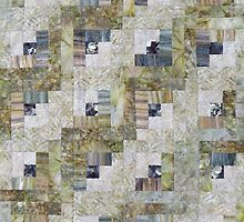 Foggy Morning Log Cabin Quilt by Jean Gregory  Evans