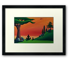 Uji Breathing Framed Print