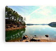 From the Banks of the Lake Canvas Print