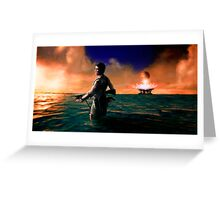 A new world, and alone. Greeting Card