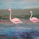 Flamingos by Angelamc