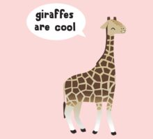 Giraffes are cool Kids Tee