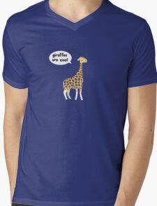 Giraffes are cool Mens V-Neck T-Shirt