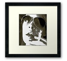 It Was The Fags Or Him ...... Framed Print
