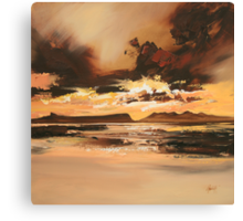 Arisaig Dusk Light Canvas Print