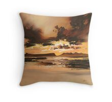 Arisaig Dusk Light Throw Pillow