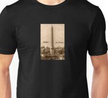 PARIS< PLACE DE LA CONCORDE SEPIA Unisex T-Shirt