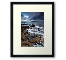 Storm clouds at dawn Framed Print