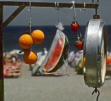 Fruit and Scale--Rhodes-Greece by milton ginos