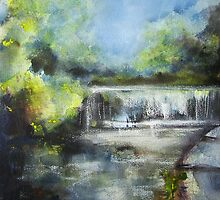 Water of Leith Weir by Fee Dickson