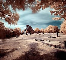 Upleatham Church, infrared by PaulBradley