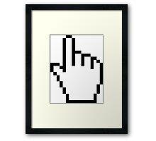 Hand Pointer Framed Print