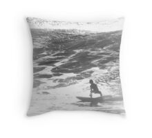 Soulful Surfer Throw Pillow
