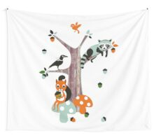 Friends of the forest Wall Tapestry