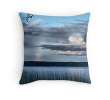 rainbow view Throw Pillow