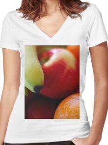 Fruit Women's Fitted V-Neck T-Shirt