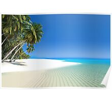 Beautiful beach in the Maldives Poster