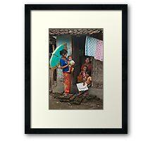 Village Gossip Framed Print